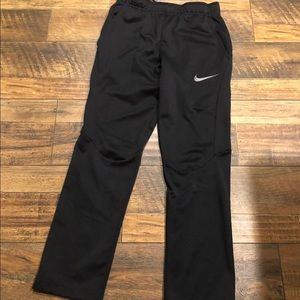 Nike black jogging pants.  Boys size Large.